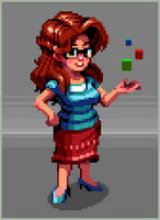 Polly Pixel by paintpixelprint