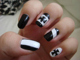 Prussia-Inspired Nails by Clawsgalore