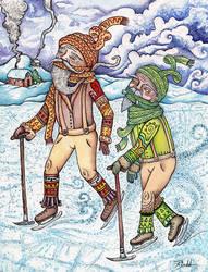 Icy Pond Race by poxodd