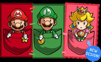 Super Mario Pocket Plushies (read description) by Purrdemonium