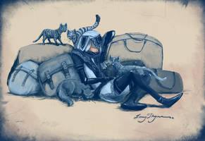Lalli en Katte by LennyThynn