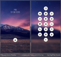 Milkyway Icons preview by DigiMarkStudio