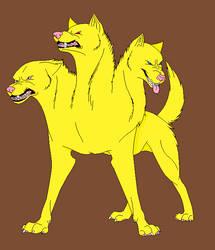 Kankuru's cerberus form by wolfboy305