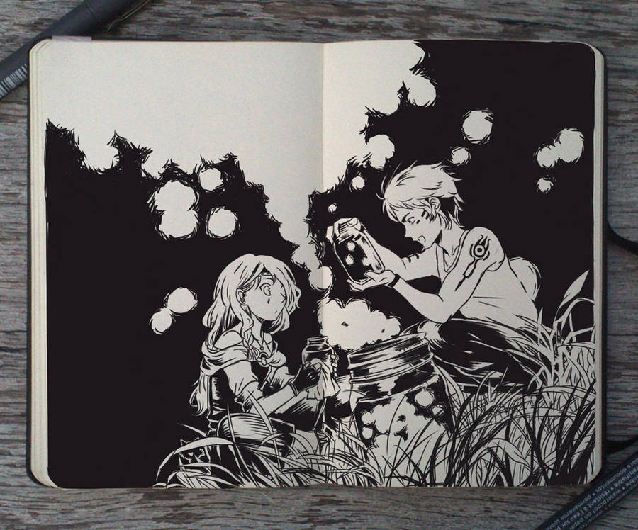 #122 Fireflies Hunters by Picolo-kun