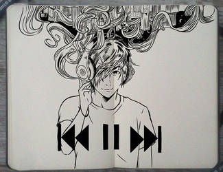 #215 music On world Off by Picolo-kun