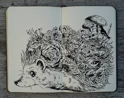 #232 Flower Hedgehog by Picolo-kun
