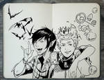 #249 Marshall Lee and Prince Gumball by Picolo-kun