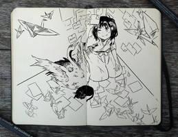 #257 Origami by Picolo-kun