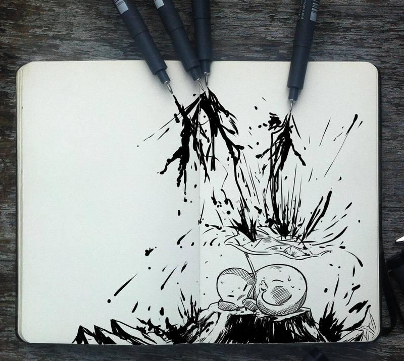 #265 It's raining ink! by Picolo-kun