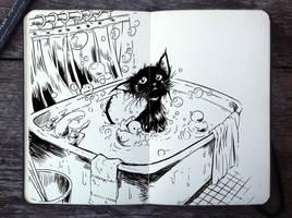 #298 Bath Day by Picolo-kun