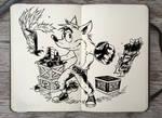 #301 Crash Bandicoot by Picolo-kun