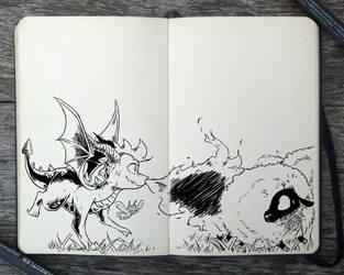 #302 Chasing Sheep by Picolo-kun