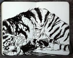 #304 Striped Cat by Picolo-kun