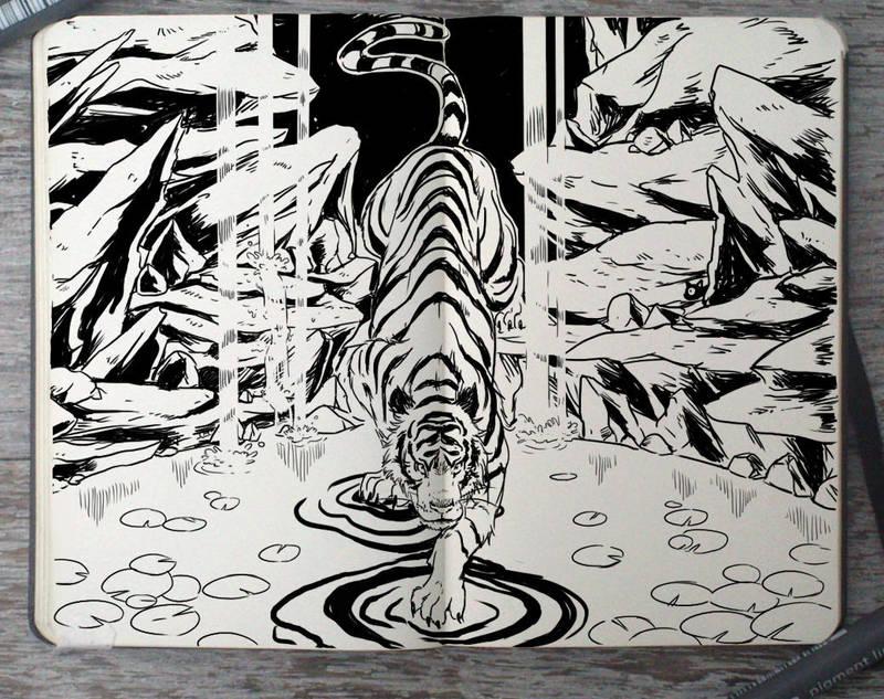 #307 Ink Tiger by Picolo-kun