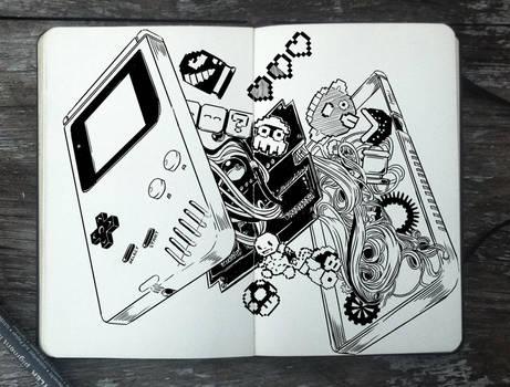 #311 Inside of a Game Boy by Picolo-kun