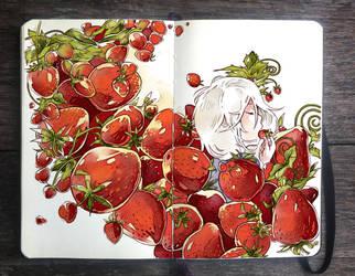 .: Strawberry Avalanche by Picolo-kun