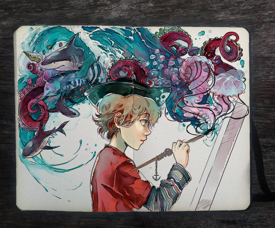 .: Paint the Sea by Picolo-kun