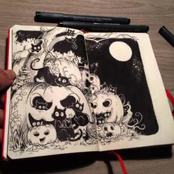 #1 Preparing for Halloween by Picolo-kun