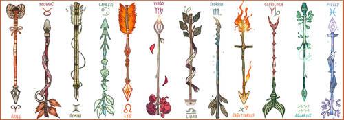 Zodiac Arrows by Picolo-kun
