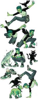 Beast Boy sneakers by Picolo-kun