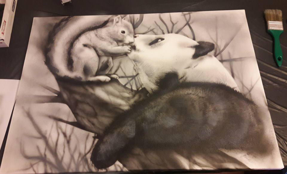 odd couple greyscales by ChAoTh