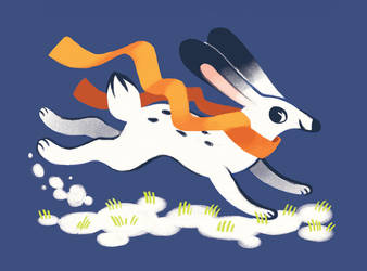 Christmas rabbit by heikala
