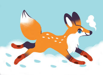 Christmas fox by heikala