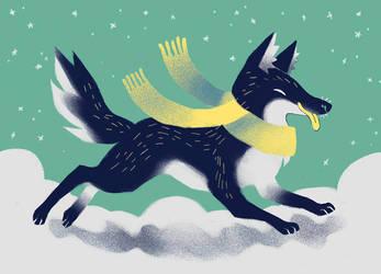 Christmas dog by heikala
