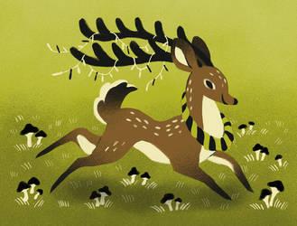 Christmas deer by heikala