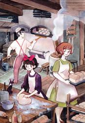 Helping the Baker by heikala