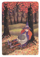 A nap in the woods by heikala