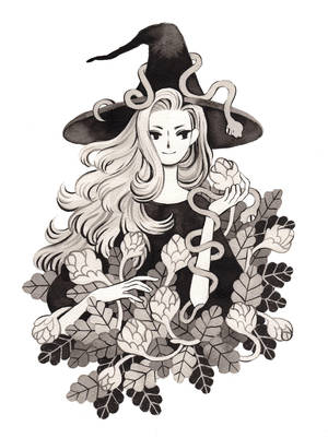 Botanist Witch by heikala