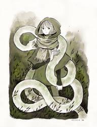 Snake Familiar by heikala