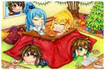 Konosuba Christmas card by stray-life