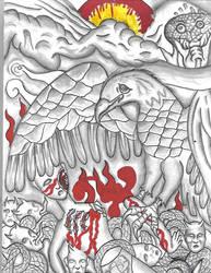 Beneath My Wings dominance prey Tattoo art by Mew126