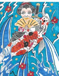 Geisha Koi Irezumi by Mew126