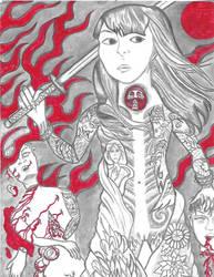 Yakuza girl Japan anime manga by Mew126