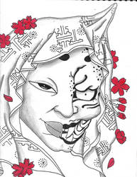 Evil Bride Japanese Irezumi by Mew126