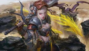 Girl Knight by DongjunLu