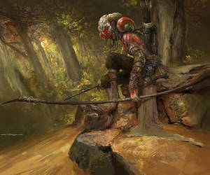 Wild Hunter Painting by DongjunLu
