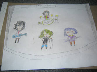 gundam 00 chibi band by themiddlepeople