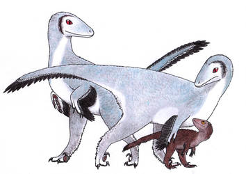 The Troodon family by Dontknowwhattodraw94
