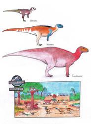 Dinosaur Zoo: Ornithopods by Dontknowwhattodraw94