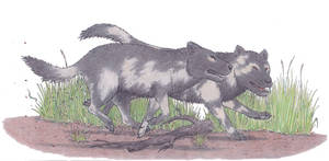 Pleistocene dogs by Dontknowwhattodraw94
