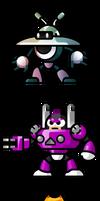 MegaMan 'Sprites'-Bosses of 9 by WaneBlade
