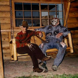 Freddy and Jason - Relaxing together by Nightmare1398