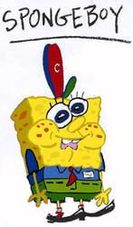 Spongeboy Ahoy! In color (20th Anniversary art) by Nightmare1398