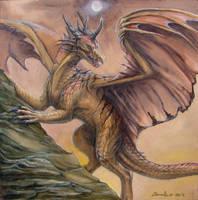 Watercolor Dragon 2 by zarathus