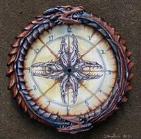 Dragon clock by zarathus