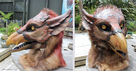 Leather gryphon partial by zarathus